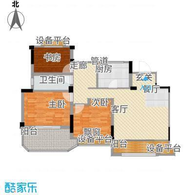 金地松江艺境103.00㎡洋房A5五层平面图户型