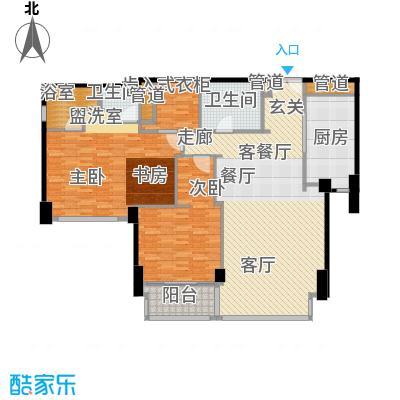 华侨城苏河湾塔尖住宅155.00㎡A2户型