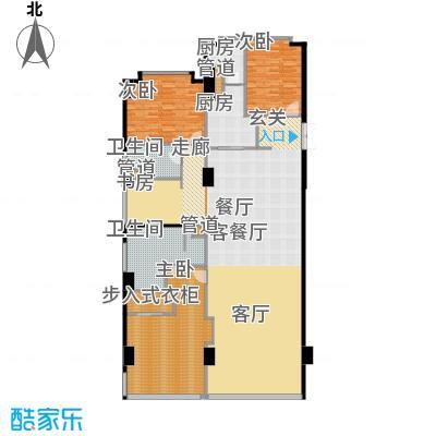 华侨城苏河湾塔尖住宅209.00㎡A1户型