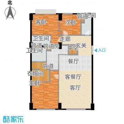 华侨城苏河湾塔尖住宅165.00㎡A3户型