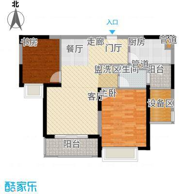 仁恒森兰雅苑二期89.21㎡二期L-2户型