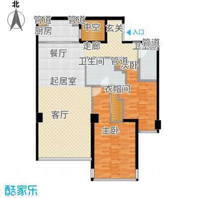 华侨城苏河湾塔尖住宅126.00㎡A2户型
