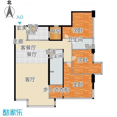 华侨城苏河湾塔尖住宅179.00㎡A4户型
