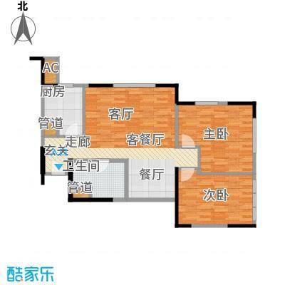 中冶昆庭81.00㎡C7户型