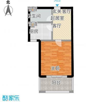 中福浦江汇46.18㎡A2户型