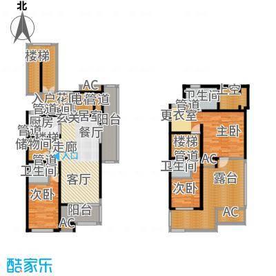 浦江坤庭177.05㎡花园洋房E户型