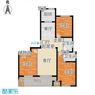 浦江坤庭129.57㎡小高层B户型