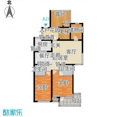 浦江坤庭137.20㎡花园洋房D户型