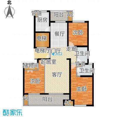 浦江坤庭130.26㎡小高层B户型