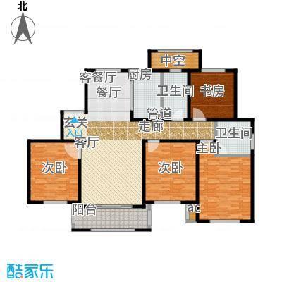 宝华海尚郡领156.00㎡F户型