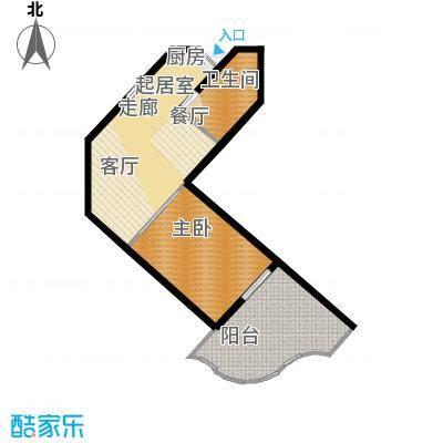 世茂怒放海65.00㎡船长公寓AB公建-R户型