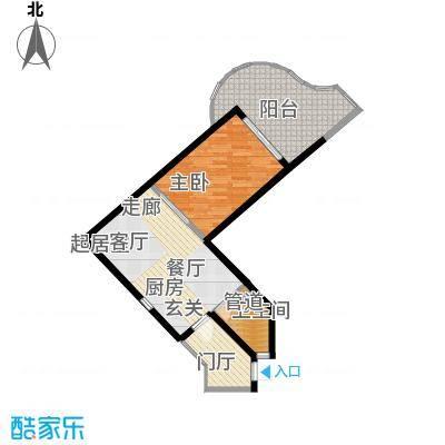 世茂怒放海65.00㎡船长公寓AB公建-U户型