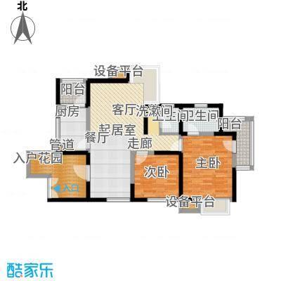 书香府邸92.24㎡2面积9224m户型