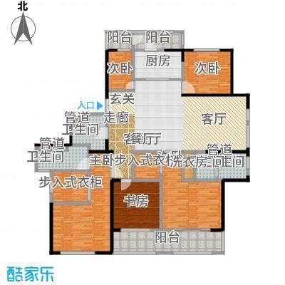 黄浦滩名苑216.00㎡3号楼A1户型