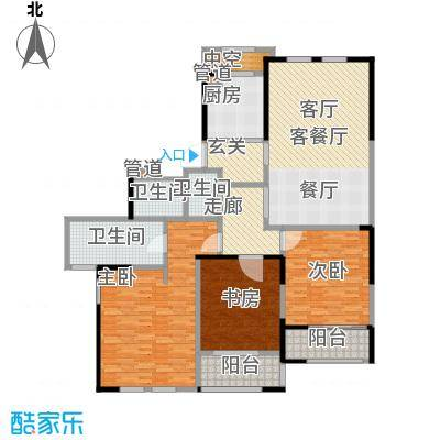 黄浦滩名苑170.00㎡4号楼B2户型