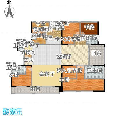 黄浦滩名苑322.00㎡1、2号楼C2户型