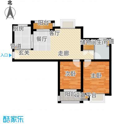 江南名庐92.34㎡户型