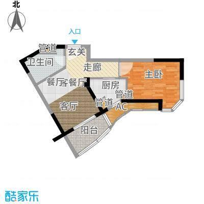 碧桂园十里金滩51.00㎡J576-B户型