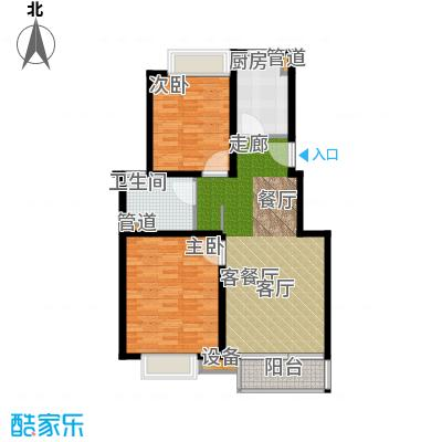 马陆清水湾公寓88.83㎡户型