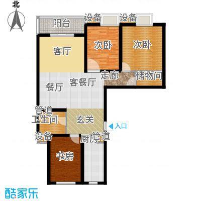 东渡青筑111.98㎡二期E户型
