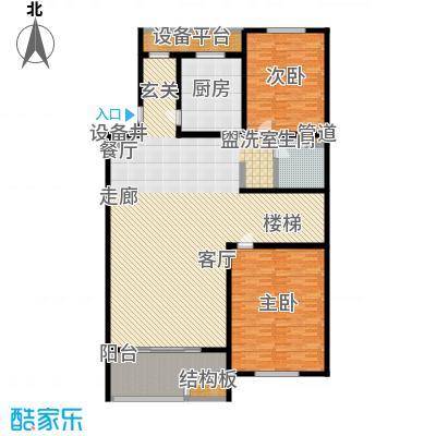 江南御府(华夏茗苑二期)200.00㎡B3-3-三层平面图户型