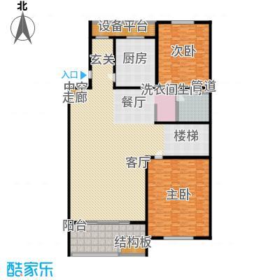 江南御府(华夏茗苑二期)280.00㎡B6C2-3三层平面图户型