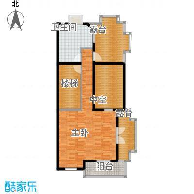 达安御廷别墅90.00㎡C6三层户型