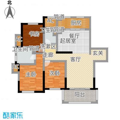 宝华铂翠豪庭110.00㎡110m2户型