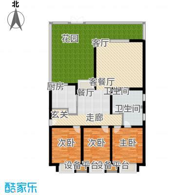 临港海滨国际花园159.28㎡E-e2-2户型