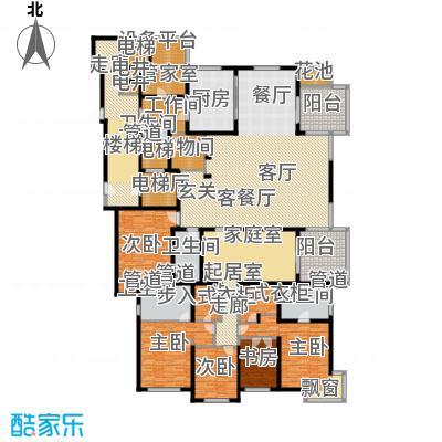 大华清水湾花园三期华府樟园430.00㎡D户型