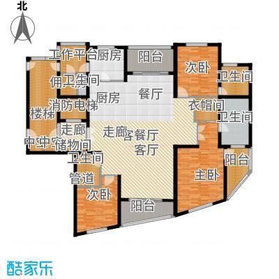 徐汇中凯城市之光255.00㎡3B户型