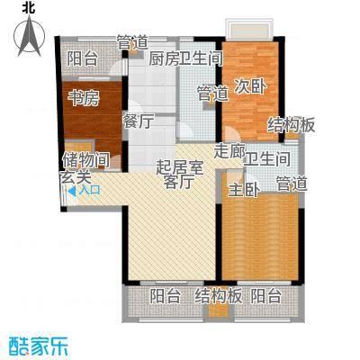 黄浦逸城133.00㎡D户型