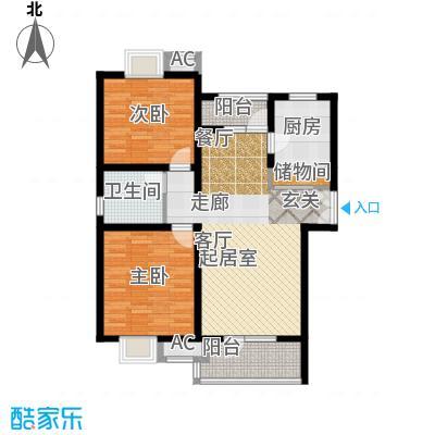 鼎鑫名流苑91.00㎡F户型