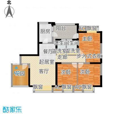 锦江帆影126.82㎡A2a型面积12682m户型