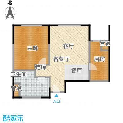 中冶昆庭64.00㎡B3户型