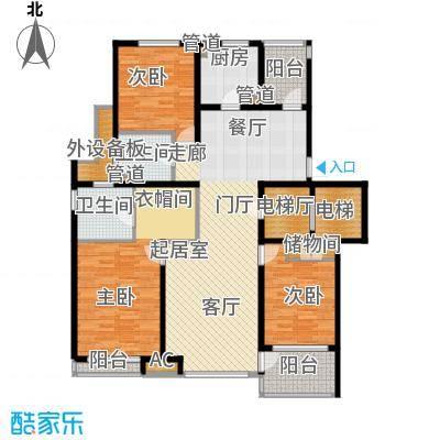 浦江坤庭137.13㎡花园洋房A户型