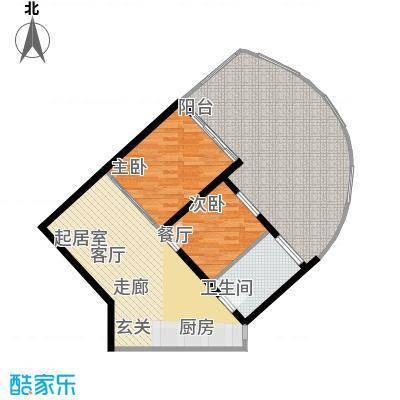 世茂怒放海92.00㎡船长公寓AB公建-M户型