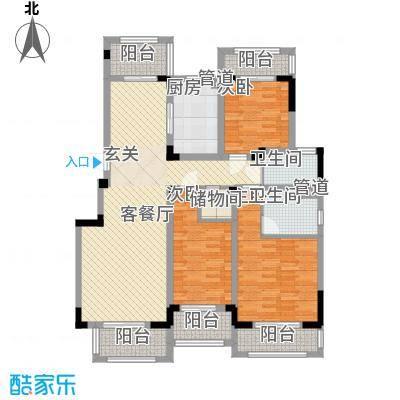 悦上海150.00㎡农房F1户型