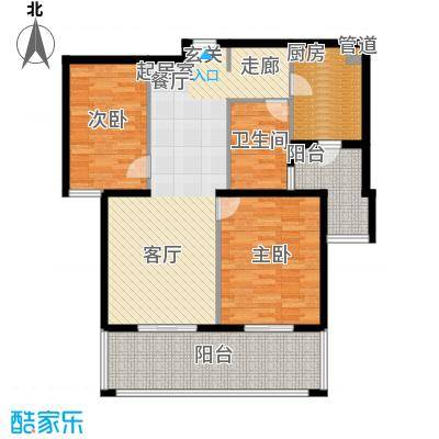 春申景城MID-TOWN106.00㎡18号楼02户型