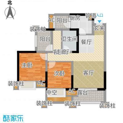 保利香雪89.00㎡1号楼2单元03/0面积8900m户型