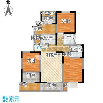 郁金香庭137.80㎡A2户型