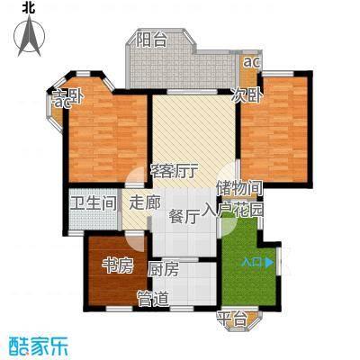 郁金香庭93.00㎡10号、11号楼东侧户型