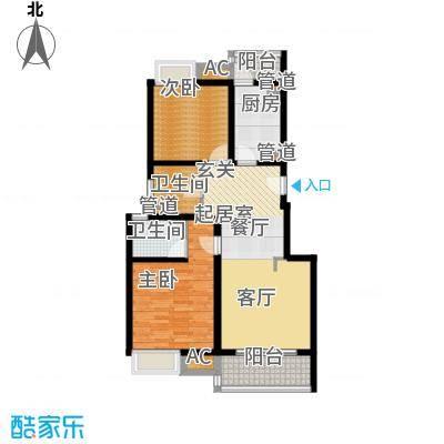 中信泰富朱家角新城90.00㎡B1d户型