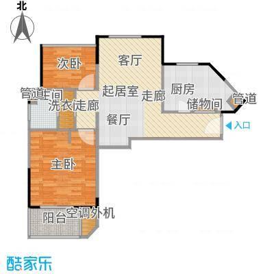 大华珐朵公馆75.80㎡C6户型