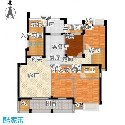 中海国际社区熙岸136.00㎡面积13600m户型