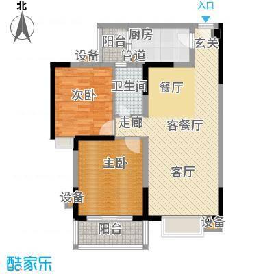 和谐家园94.42㎡B2型面积9442m户型