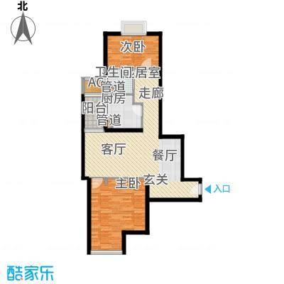 绿城上海香溢花城87.00㎡9#G户型