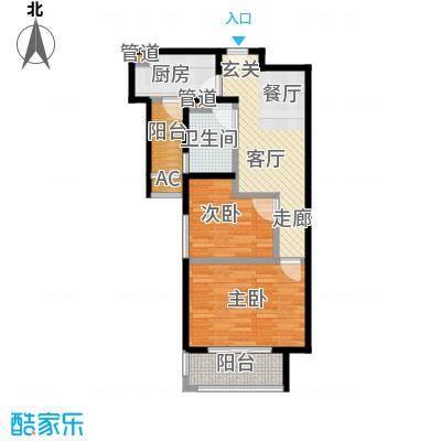 万业紫辰苑68.00㎡G2户型