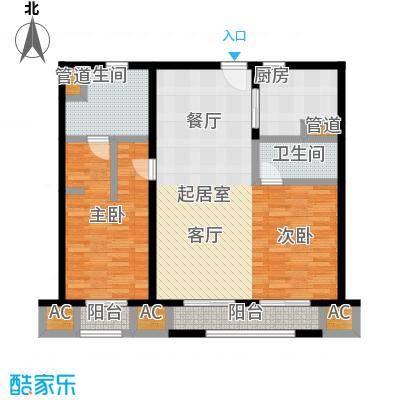 华润外滩九里国际公寓107.00㎡A户型