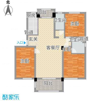 鑫苑世家136.03㎡16、17栋D户型